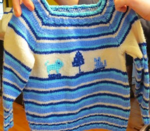 hand-knit with love sweater