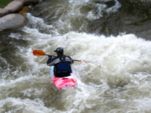 Kayak in rapids